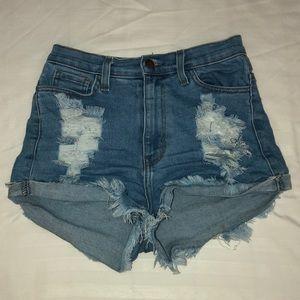 Fashion Nova Distressed Denim Shorts